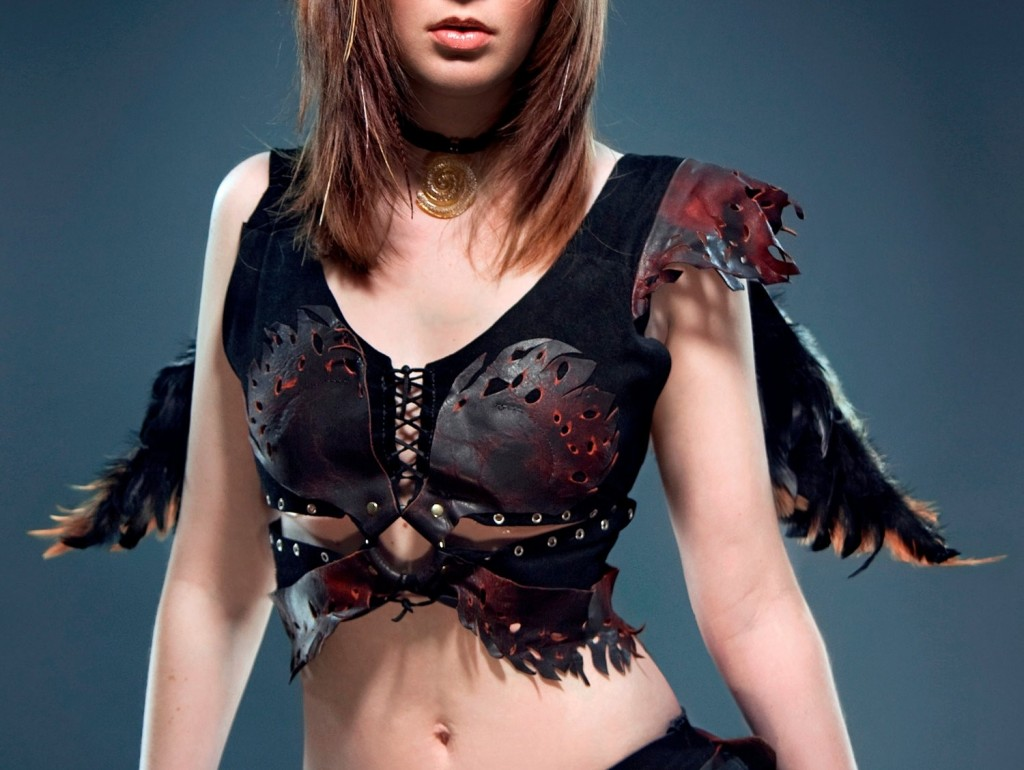 Tribal Deerskin and Faery Top Custom Fit by Ragged Edge Leatherworks at CustomMade.com
