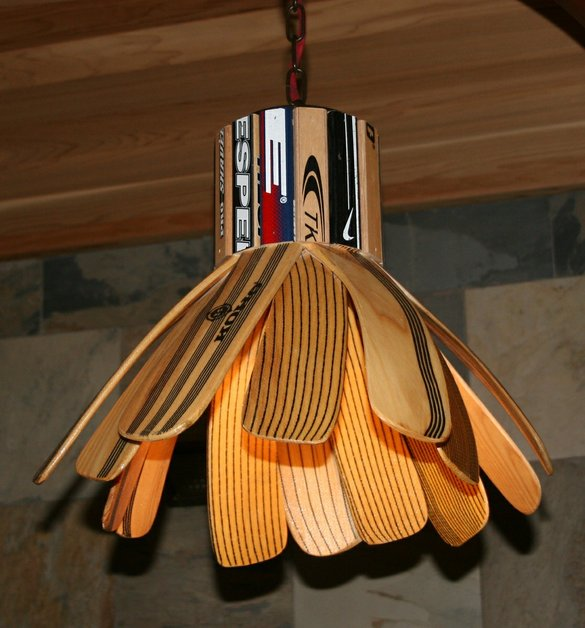 Hockey Stick Lamp Hockey Blade Lamp by Chair