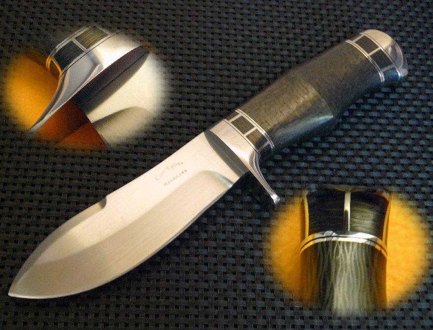 Carbon Fiber Bullnose Skinner by Cote Custom Knives at CustomMade.com