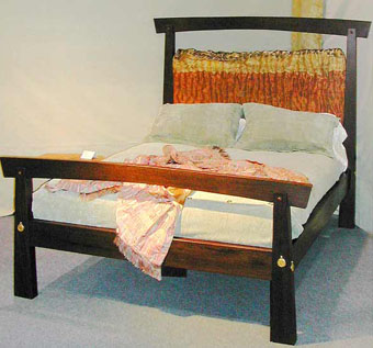Curly Bubinga and Wenge Double Bed by Morgan Woodworls Ltd. at CustomMade.com