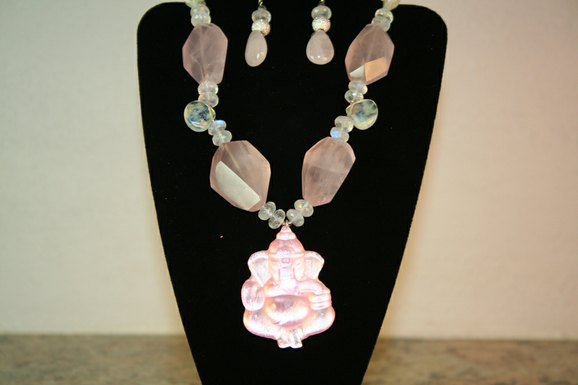 Elegant Necklace with Ganesha Pendant by Hibri Glass at CustomMade.com