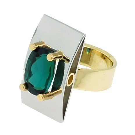Brazilian Tourmaline in Art Deco Inspired Custom Made Ring by Fine Jewelry by Francis & Linelle Lynch at CustomMade.com