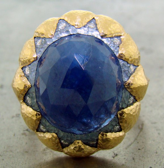 Ancient Style Blue Sapphire Ring by William Travis Jewelry available at CustomMade.com