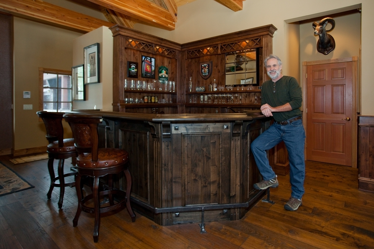 this inviting custom designed scottish pub style bar by dan joseph ...