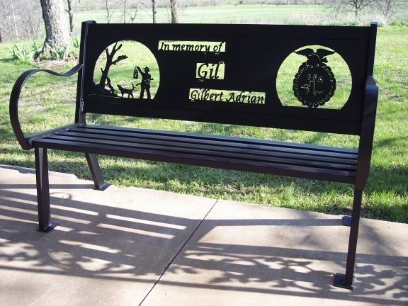 Custom outdoor benches by hooper hill custom metal designs Garden benches metal