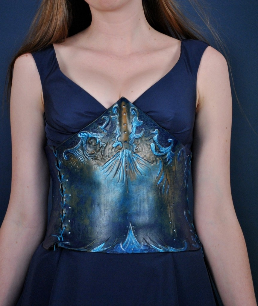 Aqua Mermaid Corset by Ragged Edge Leatherworks at CustomMade.com