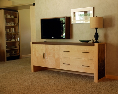 Credenza w/TV Surround by Third Street Studios at CustomMade.com