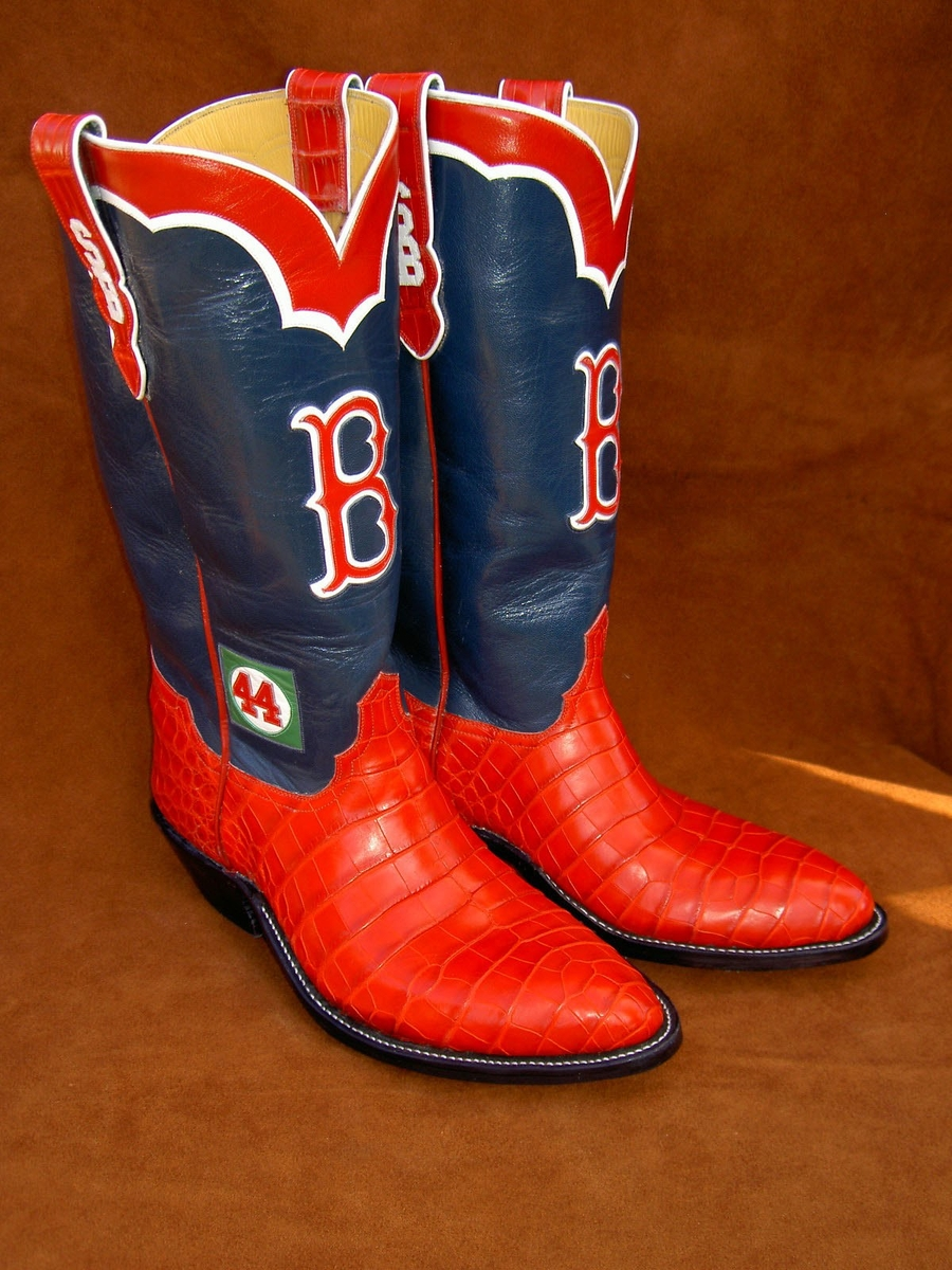 Boston Red Sox Boots with Alligator Lowers by Ghost Rider Boots at CustomMade.com