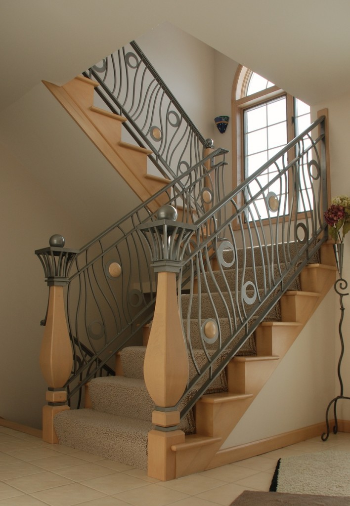 Beautiful 3 Story Railing System By Third Street Studios At CustomMade.com