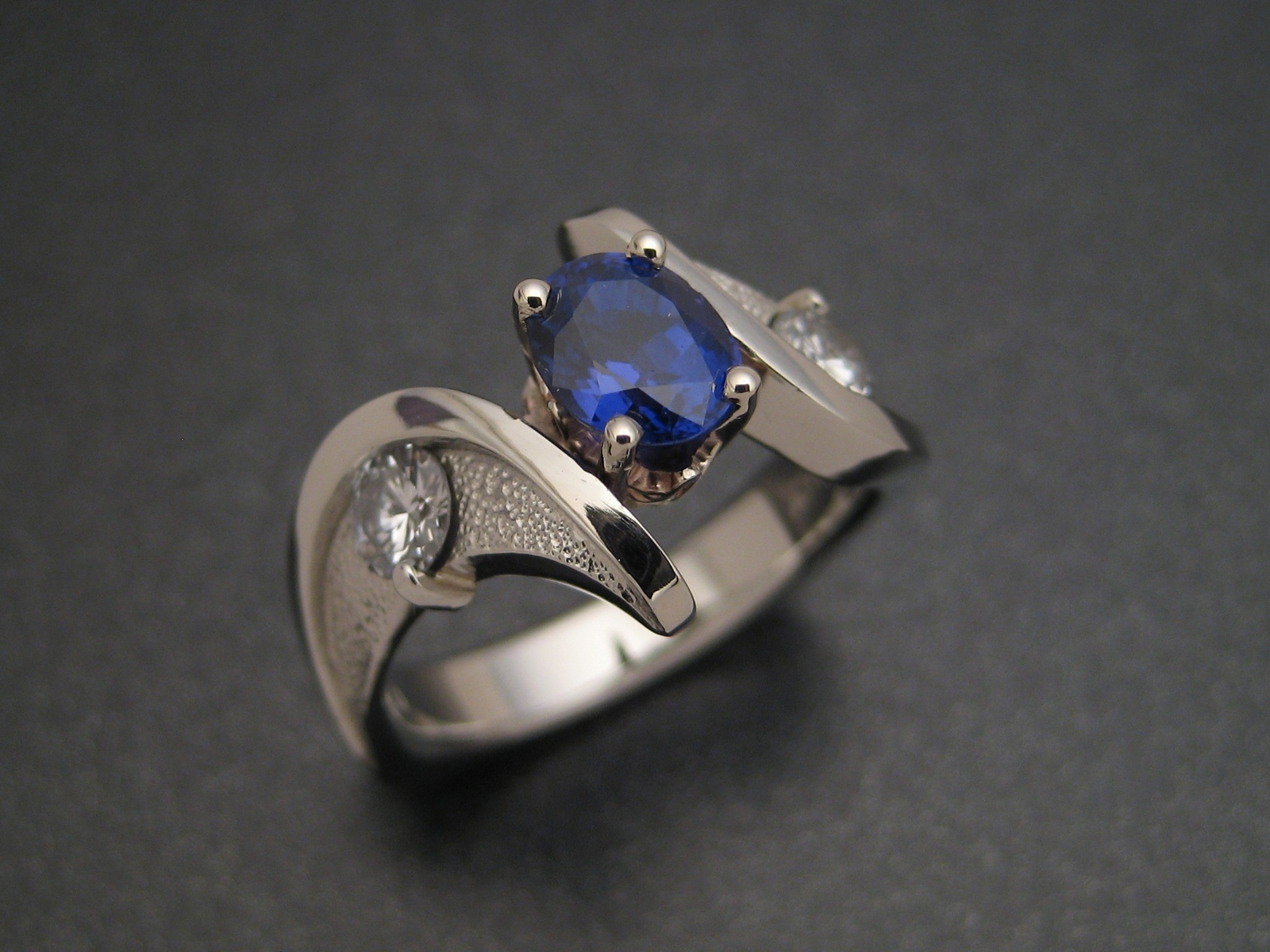 Sapphire Wedding Ring by Sculpted Jewelry Designs at CustomMade.com