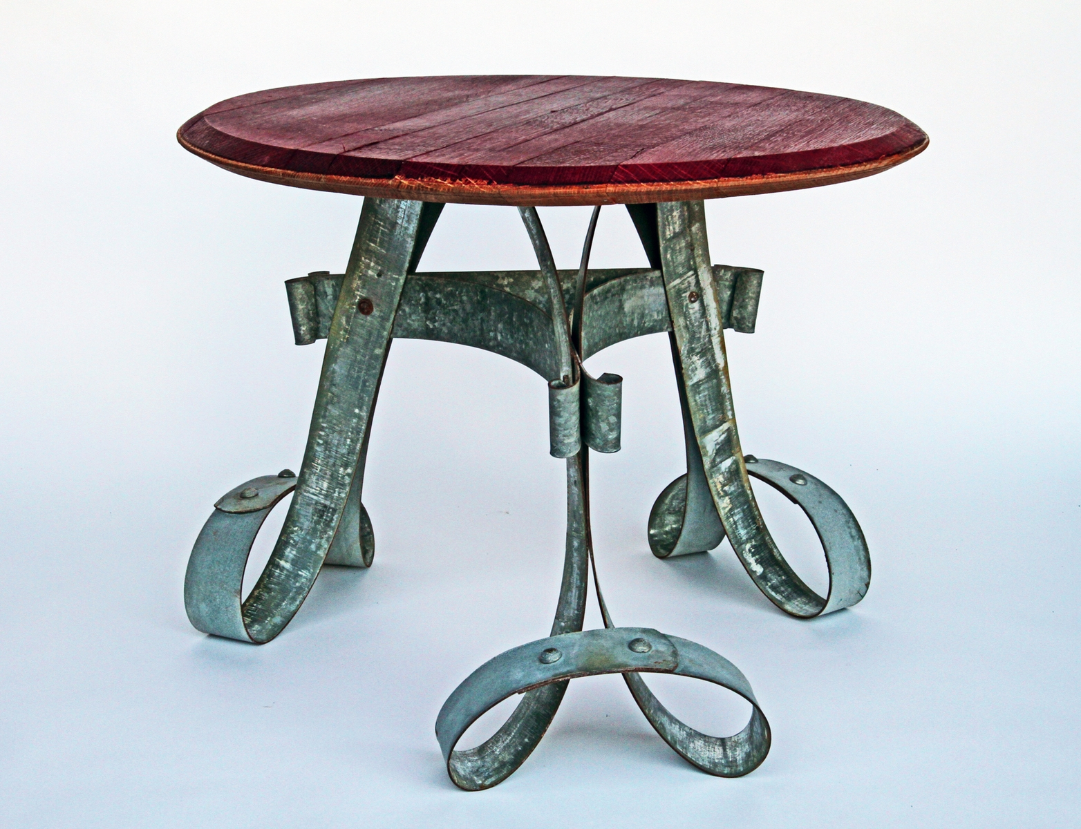 Barrel Banding End Table by Whit McLeod Furniture at CustomMade.com