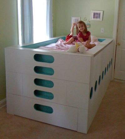 Modern Trundle Bed by White and Red Works LLC at CustomMade.com