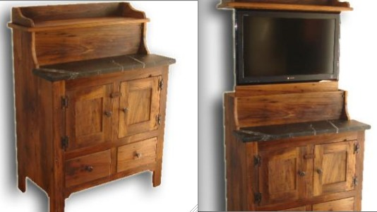 Antiqued Chest with Hidden Flat Screen TV by Delnero Furniture at CustomMade.com