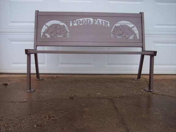 Food Fair Personalized Steel Bench by Hooper Hill Custom Metal Designs at CustomMade.com
