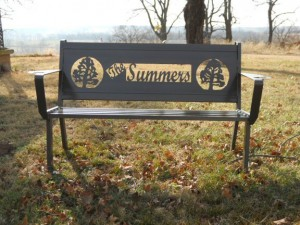 The Summers Personalized Steel Bench by Hooper Hill Custom Metal Designs at CustomMade.com