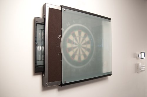 Stay On Target Sophisticated Dartboard Cabinet Designed