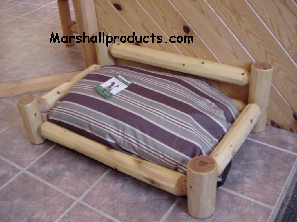 Rustic Log Dog Bed by Marshall Products at CustomMade.com