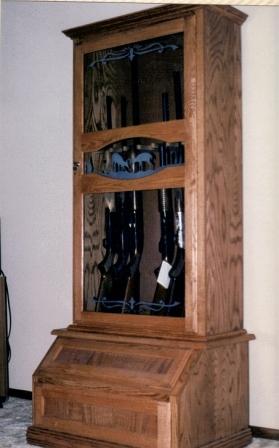 Oak Gun Cabinet by Kreckow Kustom Creations at CustomMade.com
