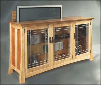 Entertainment TV Lift by Hardwood Artisans at CustomMade.com