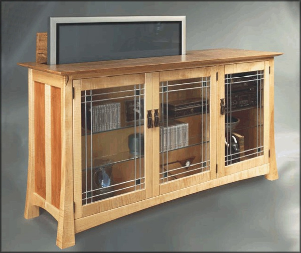 Flat-Screen TV Lift System by Hardwood Artisans at CustomMade.com