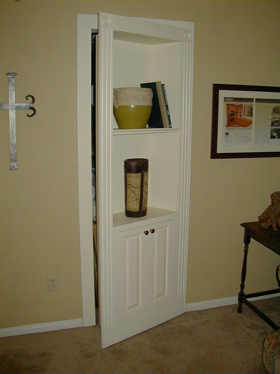 Hidden Bookcase Door by Fiorenza Custom Woodworking at CustomMade.com