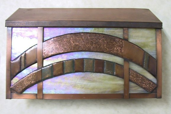 Art Glass and Copper Mailbox by Lightcrafters at CustomMade.com