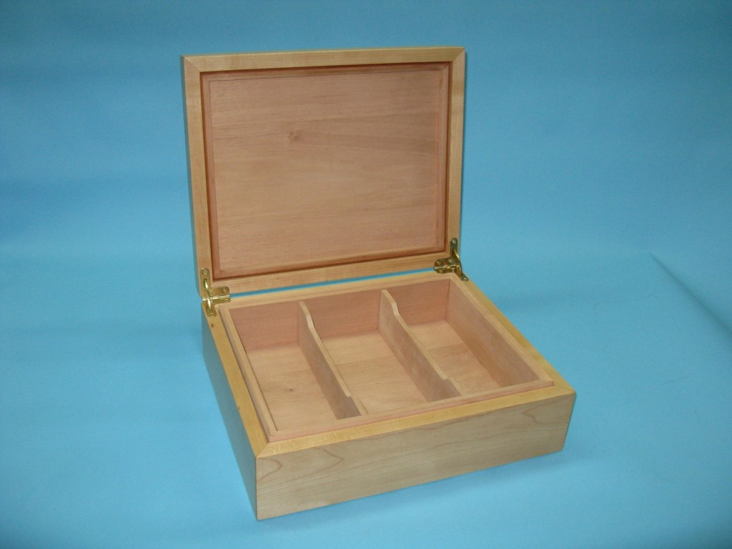 Maple and Kingwood Humidor by Delorme Humidors at CustomMade.com