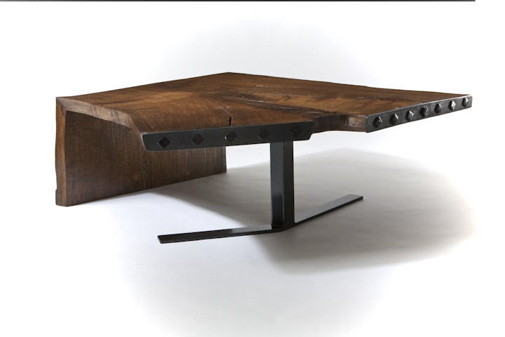 Reclaimed Oak Wood Coffee Table by JG Custom Design at CustomMade.com