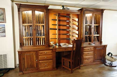 Amish Made Custom Gun Cabinet by The Woodloft at CustomMade.com
