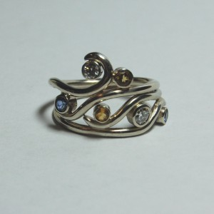 For Maya Wedding Ring Set by e. scott originals at CustomMade.com
