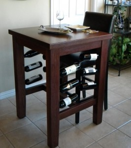Brinkman Pub Table with Wine Storage by North Texas Wood Works at CustomMade.com
