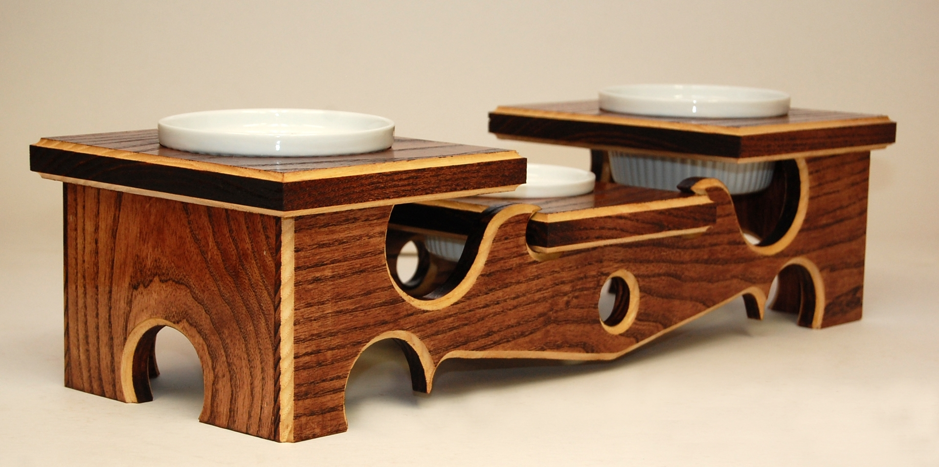 Silhouette Elevated Pet Feeder by Baro Woodworks at CustomMade.com