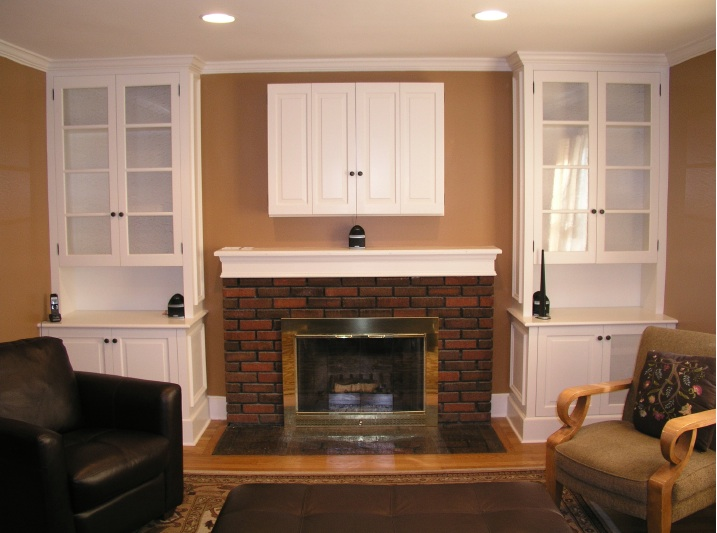 Fireplace and TV Cabinetry by Tony O'Malley Custom Woodworking at CustomMade.com
