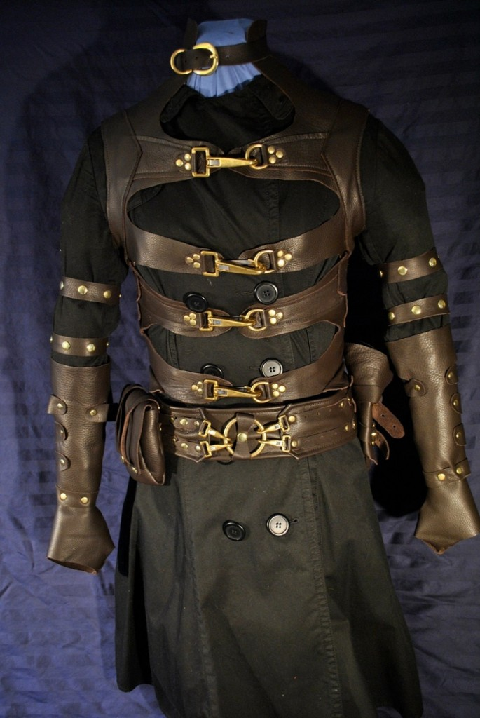 Men's Steampunk Leather Costume by Ragged Edge Leatherworks at CustomMade.com