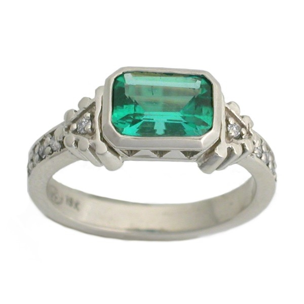 Emerald Art Deco Ring by Rona Fisher Jewelry Design at CustomMade.com