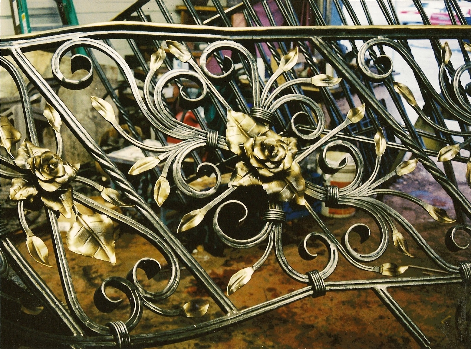 Gilded Rose Traditional Stair Railing by John Boyd Smith Metal Studios at CustomMade.com