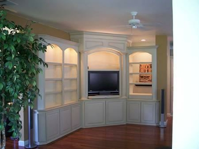Built in Corner Theater by Coastal Wood Masters at CustomMade.com