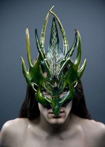 Green Man Warrior Mask by Ragged Edge Leatherworks at CustomMade.com