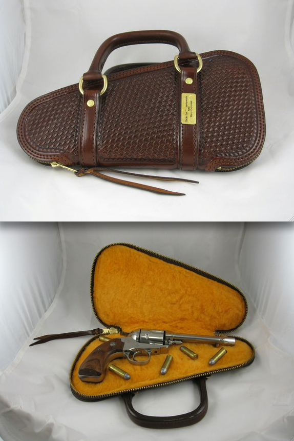Leather Pistol Case by Circle Bar-T LeatherWorks at CustomMade.com
