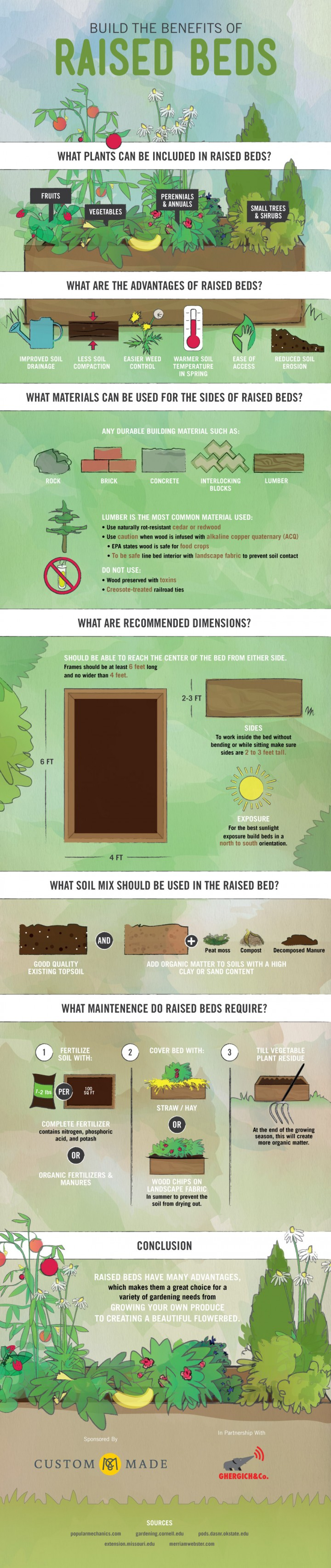 The Benefits of Gardening in Raised Beds Infographic