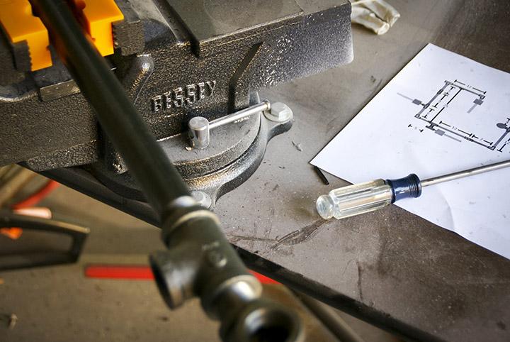 Reclaim, Reverse, Resurrect: Work Bench Photograph
