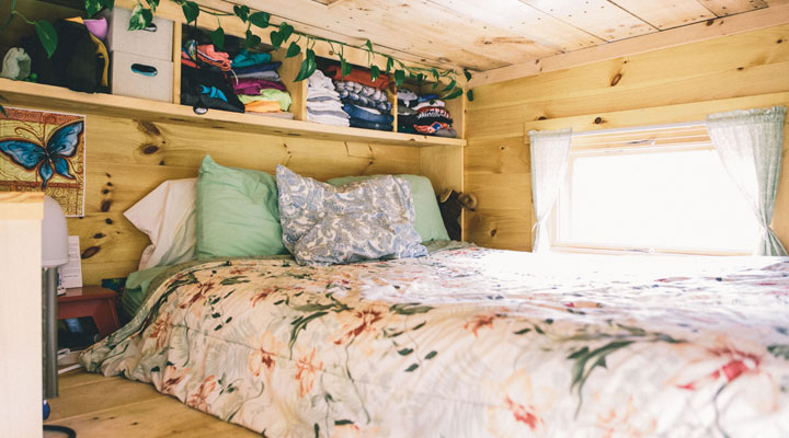Scaling Down - Building A Tiny House - Inside of the Bedroom