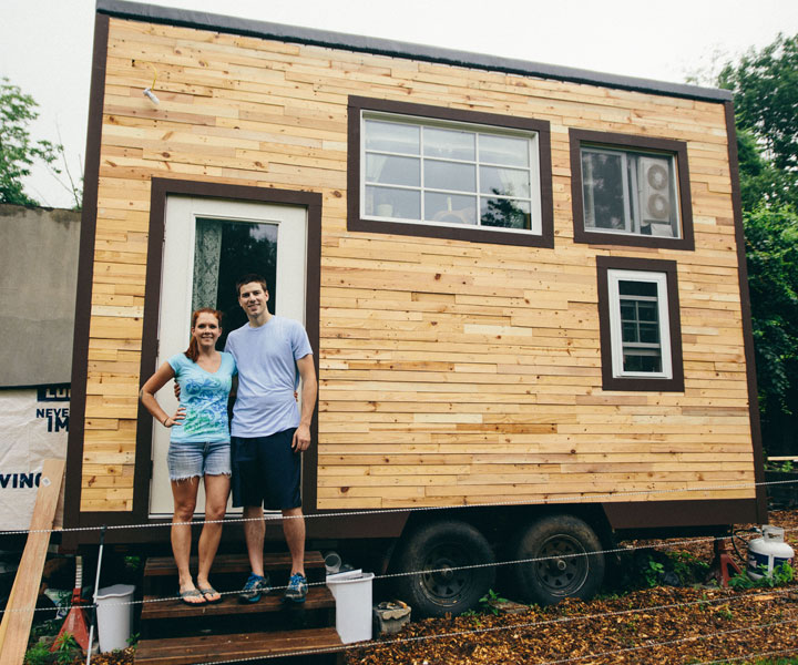 Scaling down one couple builds a tiny house tinyhouse for Pictures of tiny houses to live in