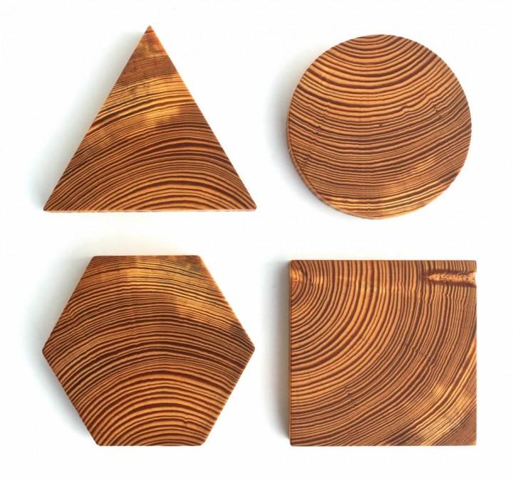 modern reclaimed wood coasters